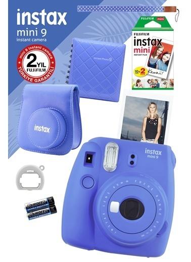 Fujifilm Instax Mini 9 Mavi Fotoğraf Makinesi ve Hediye Seti Mavi